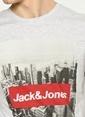 Jack & Jones Baskılı Tişört Beyaz